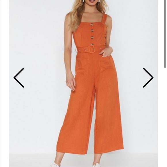 Nasty Gal Pants - Nasty Gal Orange Jumpsuit